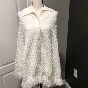 Vintage off white poncho